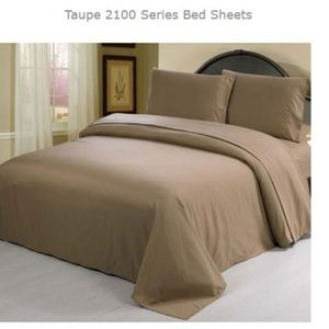 Other - TWIN Size TAUPE 3 Pieces SHEET SETS